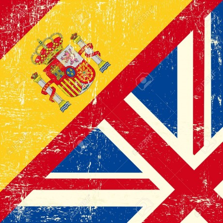 18147080-UK-and-spanish-grunge-flag-Stock-Vector-language-london-learning